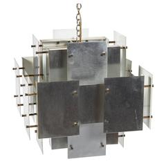 Gaetano Sciolari Steel Light Fixture
