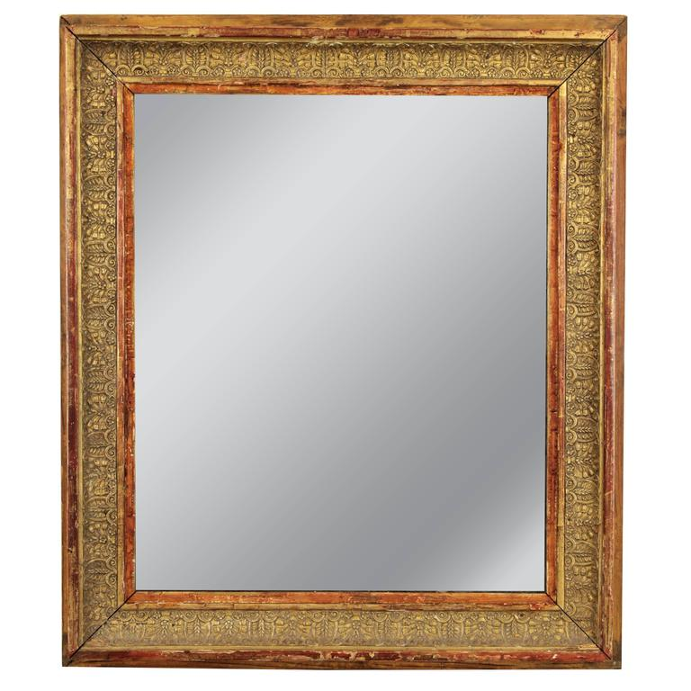 Early 19th Century French Empire Giltwood Mirror