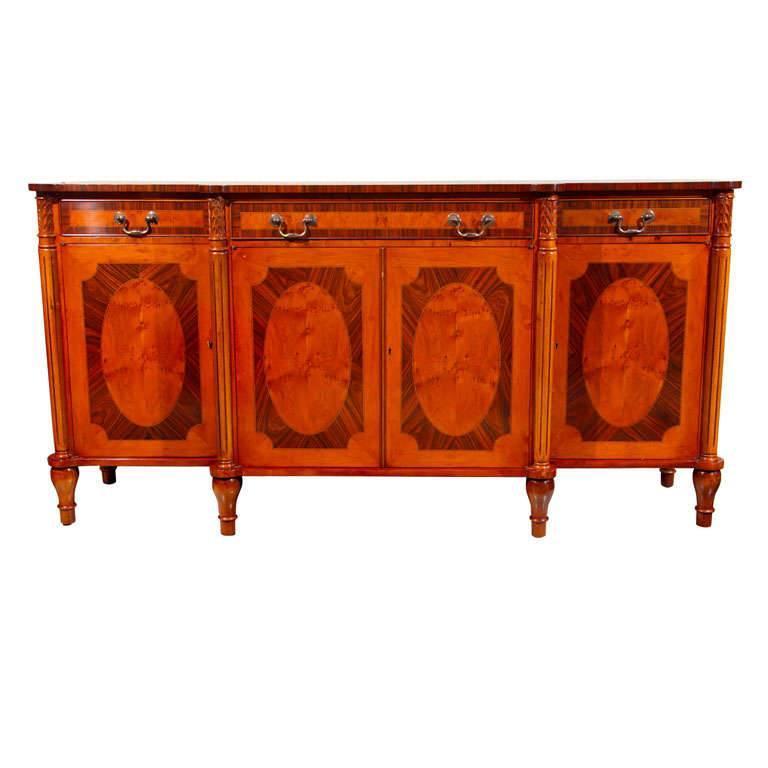 Adam Style Yew Wood Sideboard / Server