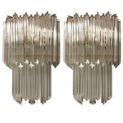 Pair of Italian Mid-Century Venini Sconces