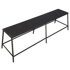 French Industrial Metal Bench