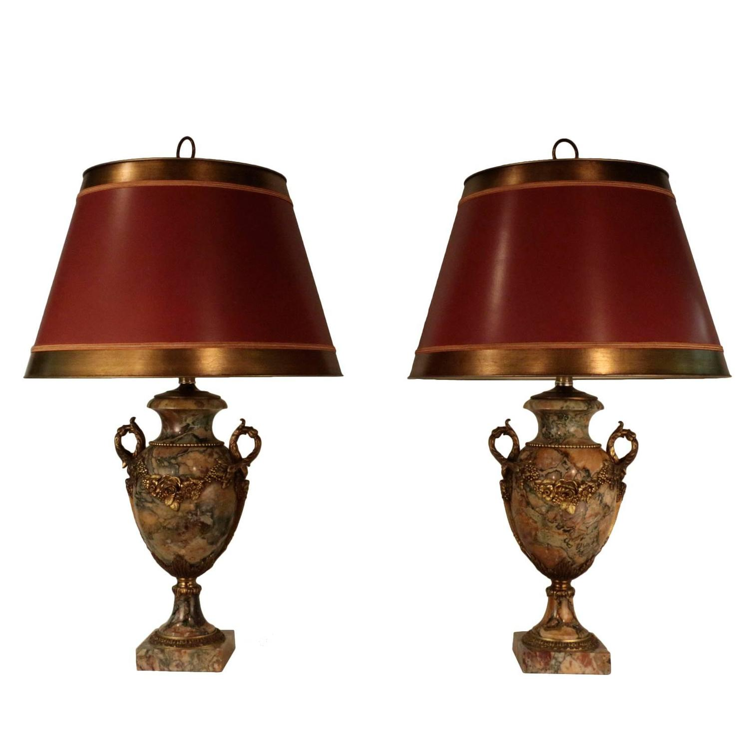 Pair of Louis XVI Style Bronze and