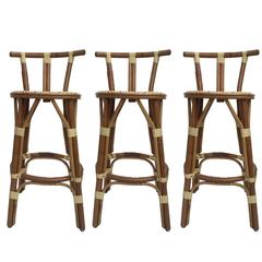 Set of Three Petit French Bar Stools