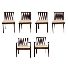 Set of Six Paul Frankl Dining Chairs