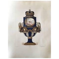 Porcelaine Tendre de Sevres, 36 Hand Colored and Gilded Plates, 1891-Folio