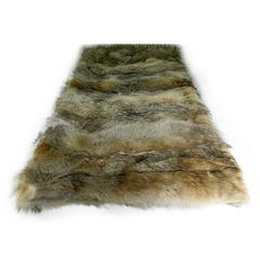 Luxurious Coyote Fur Throw with Cashmere Lining