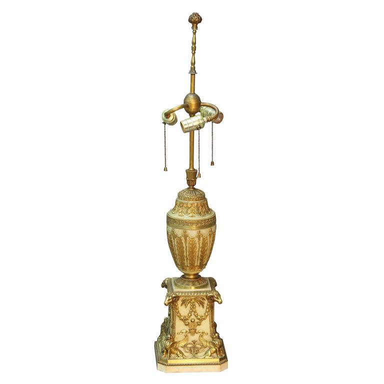 Antique E. F. Caldwell Gilt Bronze Lamp