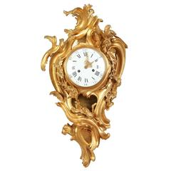 Wall Clock in Louis XV Style Farret and Honoré Pons