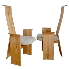 Berthold Schwaiger, 1985, Brilliantly Crafted Chairs Signed and Dated
