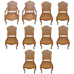 12 Walnut Dining Chairs