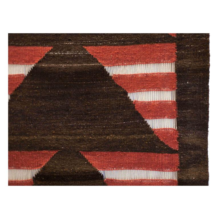 Contemporary Runner #10 Naturally-dyed Hand-Spun Wool Tapestry