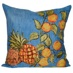 Vintage Liberty of London Pineapple Silk Scarf and Irish Linen Cushion Pillow