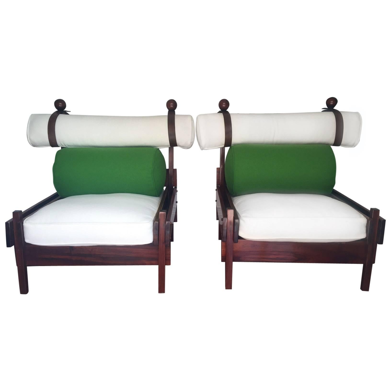 Pair of Tonico Rosewood Chairs by Sergio Rodrigues