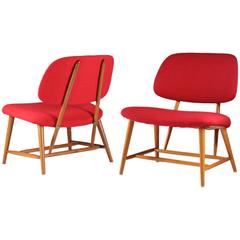 """TeVe"" Chairs by Alf Svensson for Ljungs Industrier, 1953"