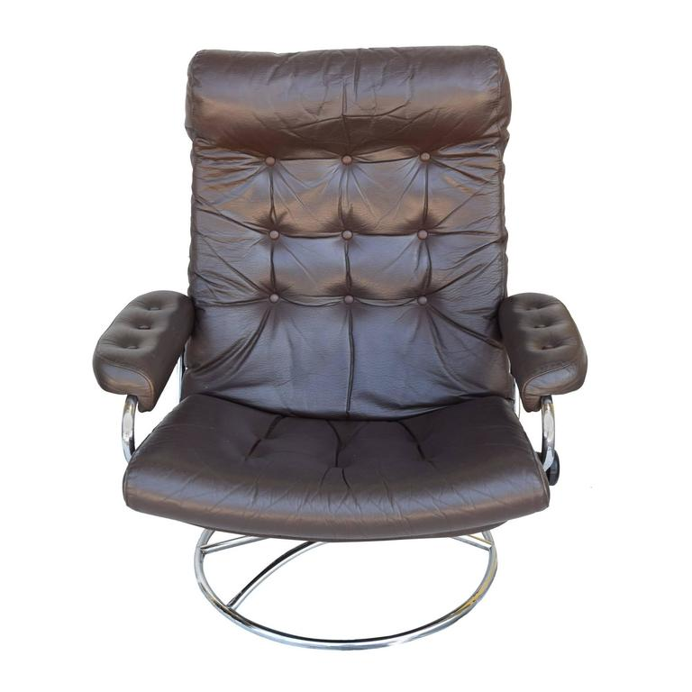 Ekornes Stressless Chair And Ottoman 1972 At 1stdibs