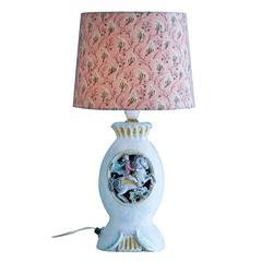 Vintage 1950s Italian Ceramic Table Lamp