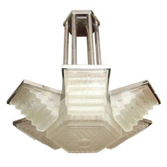 Large Art Deco Chandelier by Sabino