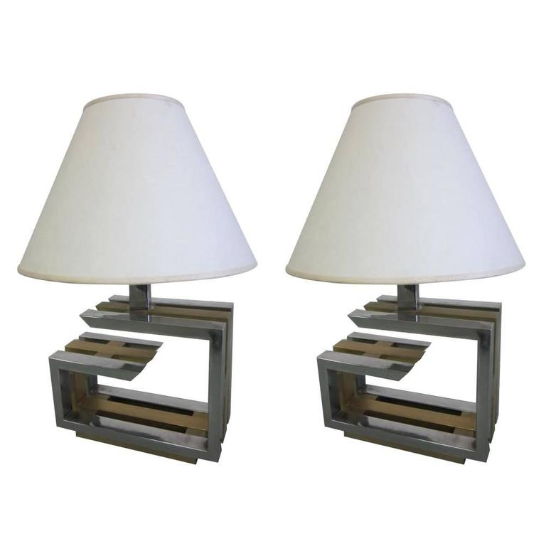 Pair of Italian Mid-Century Modern Table Lamps by Romeo Rega