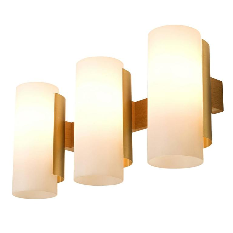 Very Large Wall Lights : Set of Eight Very Large Swedish Wall Lights in Brass For Sale at 1stdibs