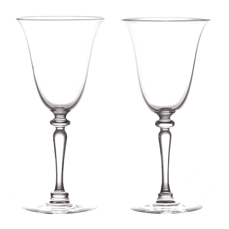 24 Elegant Art Deco Steuben Water Goblets