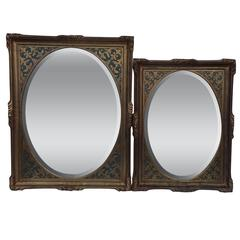 Unmatched Pair of Signed Monumental Mirror