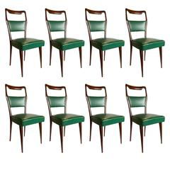 Set of Eight Italian Dining Chairs by Paolo Buffa, 1940s