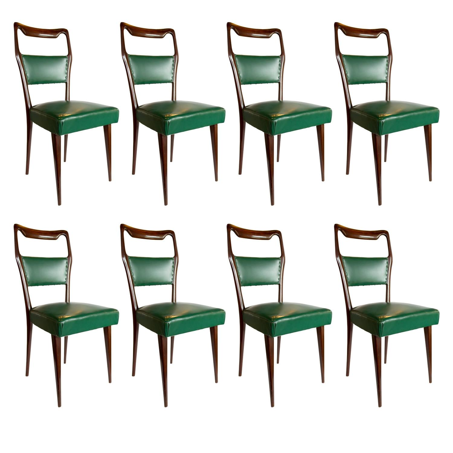 Set Of 1940s Brazilian Jacaranda Medallion Cane Dining Chairs For Sale At  1stdibs
