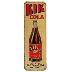 1950s Kik Cola Advertising Sign