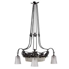 Art Deco Chandelier by Muller
