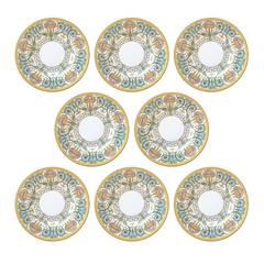 Set of Eight Royal Worcester Hand-Painted Plates