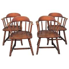 Set of Four Cowboy Captains Chairs