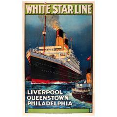 """White Star Line Liverpool Queenstown Philadelphia"" Poster"