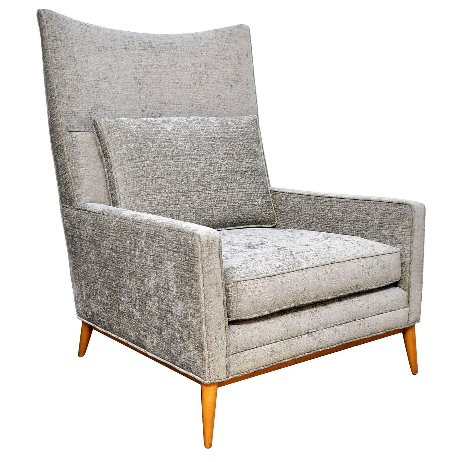 Paul McCobb Directional 314 Model High Back Lounge Chair at 1stdibs
