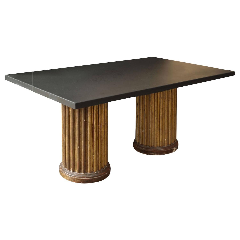 Slate Top Custom Coffee Table For Sale At 1stdibs