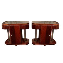 Glass Rod End Tables