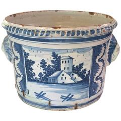 18th Century Blue and White Delft Jardiniere