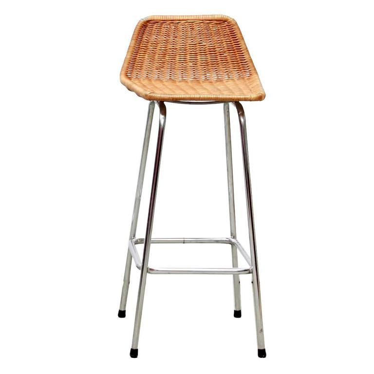 One Dutch Dirk Van Sliedrecht Wicker Bar Stool For Rohe