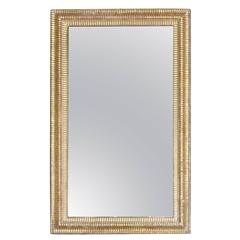 19th Century Gold Gilt Decorative Frame Rectangular Wall Mirror, France
