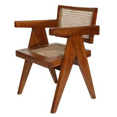 "Pierre Jeanneret ""Office Cane Elegant Chairs"""