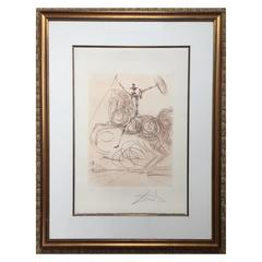 "Salvador Dali, ""Horseman"", etching, signed and inscribed ""E.A."", 1975"