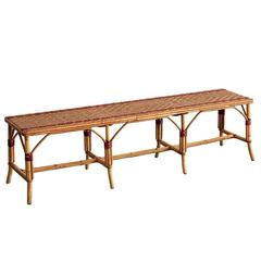 Large French Cafe Bench