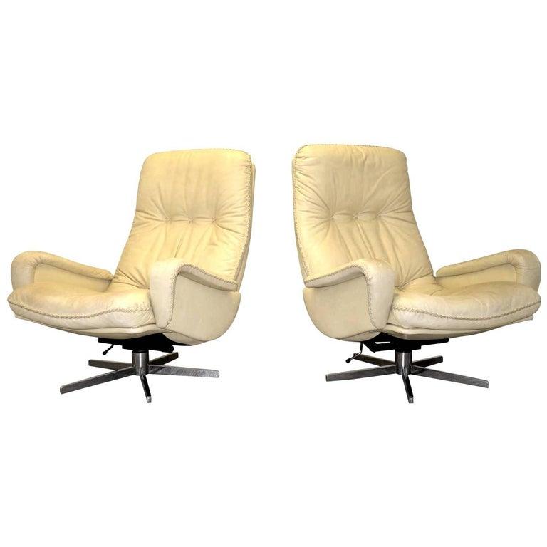 Vintage De Sede S 231 James Bond Swivel Lounge Armchairs, 1960s