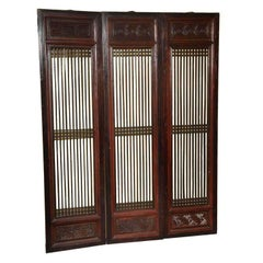 Set of Six 19th Century Original Lacquered Finish Elmwood Door Panels