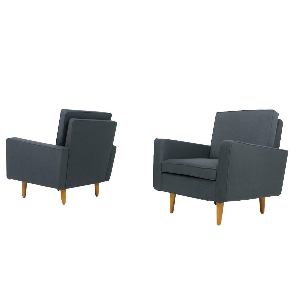 rare 1950s florence knoll lounge chairs mod 26 knoll international mid century for sale at 1stdibs. Black Bedroom Furniture Sets. Home Design Ideas