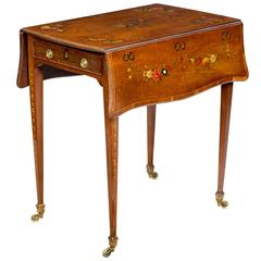 George III Satinwood Pembroke Table