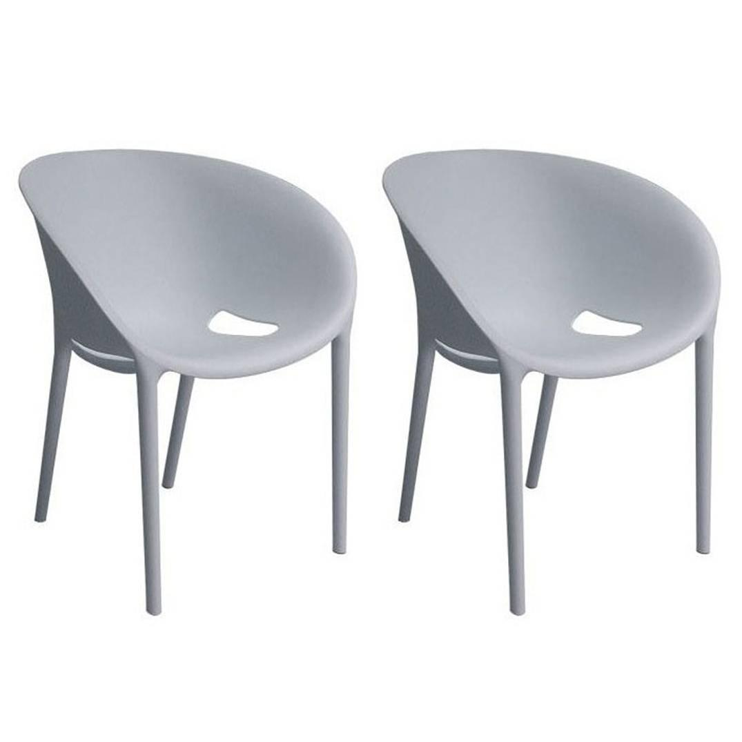 Pair Of Brand New Driade Gray Soft Egg Chairs By Philippe Starck, Italy At  1stdibs