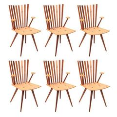 Six Foersom and Lorenzen Mikado Dining Chairs