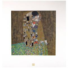 "After Gustav Klimt, ""The Kiss"", from the Portfolio Das Werk Gustav Klimts"