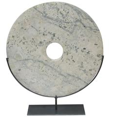 Cream and Grey Disc Sculpture, China, Contemporary