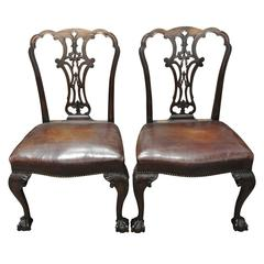 Pair of Fine George II Side Chairs